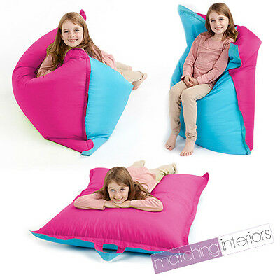 Pink Blue Bean Bag Slab Large Children's Kids Beanbag Cushion Splashproof Seat