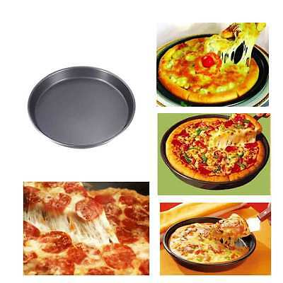 8in Round Pizza Pan Tin Oven Cookie Cake Cookware Baking Tool Tray Non Stick