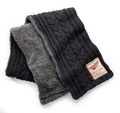 Scruffs Extra Large Lined Vintage Scarf Cable Knitted Chunky Knit Charcoal Grey