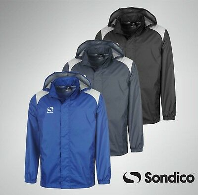 Kids Junior Sondico Rain Wind Full Zip Casual Jacket Age 7 8 9 10 11 12 13