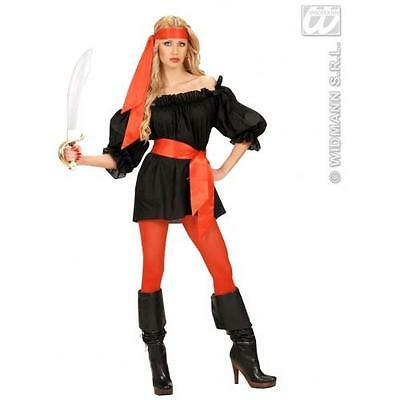 Ladies Red Satin Sash Or Headwrap Sexy Secretary Pirate Fancy Dress