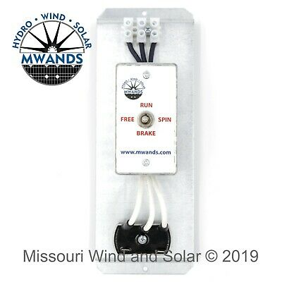 Quick Connect 3 Phase Brake Switch & Rectifier for 24 and 48 Volt Wind Turbines