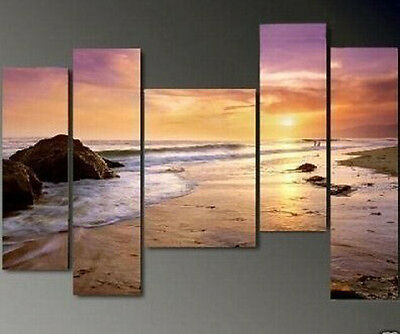 Hot sale! 5PC MODERN ABSTRACT HUGE LARGE CANVAS ART OIL PAINTING