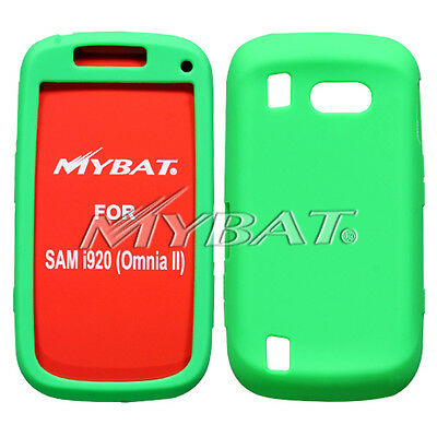 For Samsung i920 (Omnia II) Solid Skin Case Cover (Dr Green)