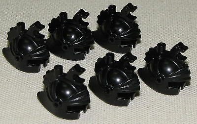 LEGO LOT OF 6 BLACK DRAGON KNIGHT HELMETS CASTLE PIECES