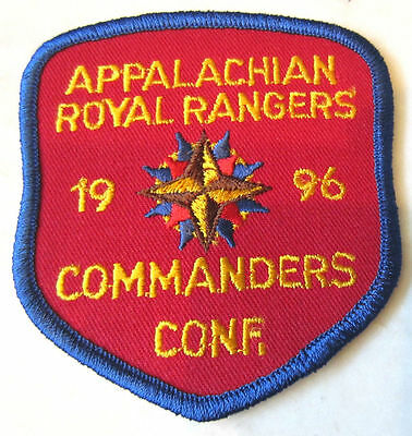 Appalachian 1996 Commanders Conf. Conference  Rr Royal Ranger Uniform Patch