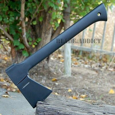 """14"""" CARBON STEEL TACTICAL HUNTING AXE CAMPING THROWING HATCHET SURVIVAL 6326-F"""