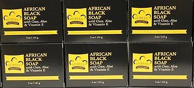 Nubian Heritage African Black Soap / 6 Pack