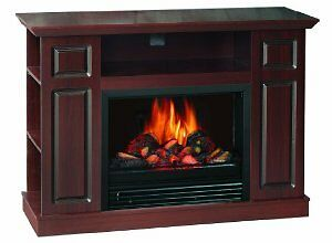 Quality Craft Sylvania SOM220-46FDW Electric Fireplace Heater with Adjustable