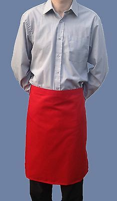 Wholesale Job Lot 10 Brand New Mens Womens Red Half Aprons Work Chef Cook