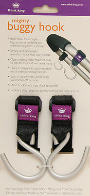 Think King 2 Hooks Pack - GREAT for Pram/Buggy/Car and more. Set of 2 hooks. NEW