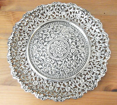 ANTIQUE 19th C INDIAN KUTCH SILVER DISH 176g