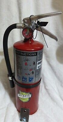 "One-New 2017 ""buckeye"" 5-Lb Abc Fire Extinguisher With Vehicle Bracket"