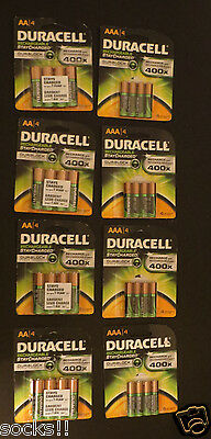 16 AAA + 16 AA Duracell rechargeable battery white top nimh made in japan