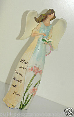 Angel Statue With Book Fairy Figurine Guardian Angels Figurine Angel With Bible