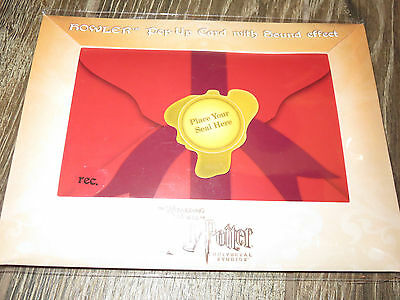 Wizarding World of Harry Potter HOWLER pop up card with recordable sound effect