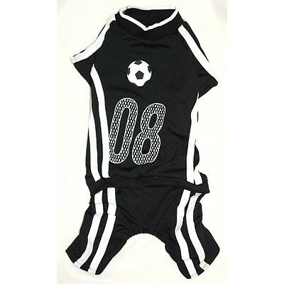 951 S~5l Black Soccer Overall Jumpsuit /Dog Clothes Sweater Jacket Coat -N