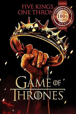 New Game Of Thrones Holding Crown Got Tv Show Wall Art Print - Premium Poster