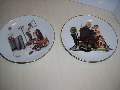 Norman Rockwell Limited Edition - Set of 2  BEFORE THE SHOT & THE COUNTRY DOCTOR