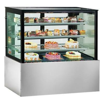 Cake & Food Display Unit, Square Chilled Refrigerated Cabinet 1500x740x1350mm