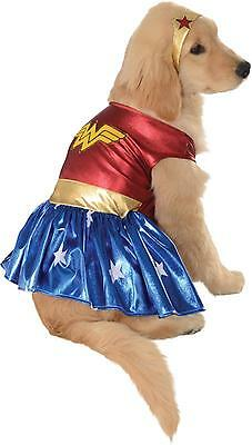 Deluxe Dog Wonder Woman Fancy Dress Halloween Pet Party Outfit Superhero Costume