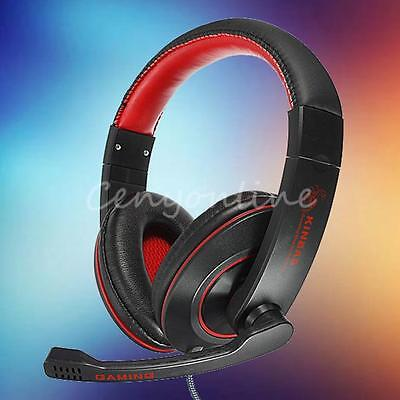 Stereo Gaming Headphone Headset Earphone with Mic Microphone for PC Laptop Skype