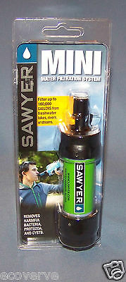 [SP101]( 1X)GREEN Sawyer Mini Water Filter w/16 oz pouch FREE Shipping  SP128