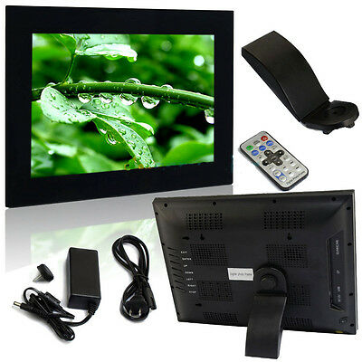 "New 15"" Digital Photo Picture Frame MP3 MP4 Movie  Remote Control Include Black"