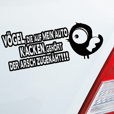 Auto Aufkleber VÖGEL KACKEN Tuning Car Fun Tier Vogel Sticker DUB OEM JDM 694