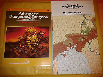 AD&D H3 THE BLOODSTONE WARS 1987 TSR W/MAP