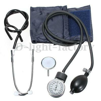 Aneroid Sphygmomanometer Arm Blood Pressure Monitor Stethoscope Cuff Dial