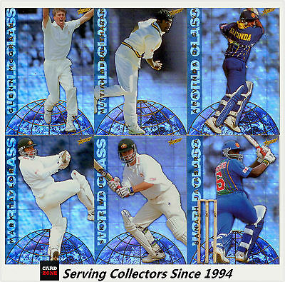 1998/99 Select Cricket Hobby Trading Cards World Class Full Set (12)-Ultra Rare