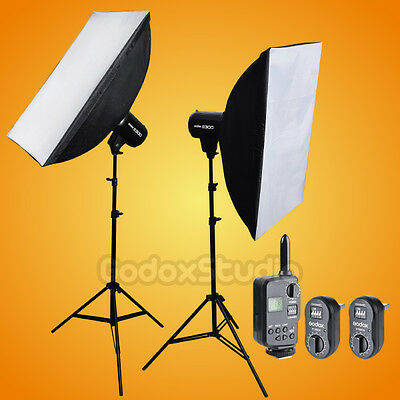 Godox E300 X2 600W Studio Flash Strobe Light + 60x90cm Softbox + FT-16 Kit 220V