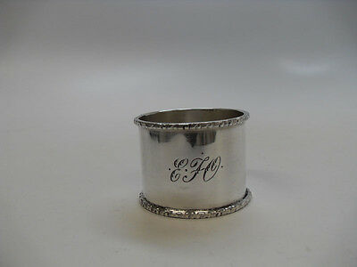 "Sterling Silver Napkin Ring, Mono "" E F O "", Maker Unknown, Age Unknown"