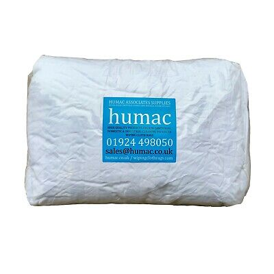 1kg White Lint Free High Quality Cotton Polishing Cloths Rags Bag 1 Kilo - HUMAC