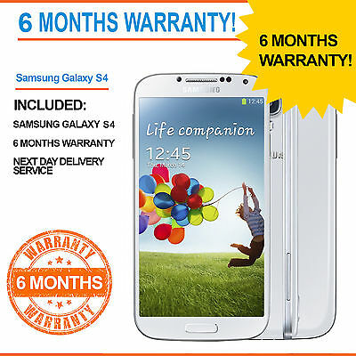 Samsung Galaxy S4 GT-I9505 -16 GB S 4- White Frost - Unlocked GT- I9500