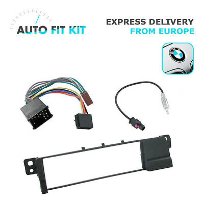 BMW Series 3 E36 E46 1 Single DIN Fascia Radio Replacement Kit Round Pin Fakra