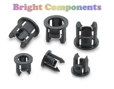 20x 3mm LED Bezel Clip Holder Mount (Push Fit) - 1st CLASS POST