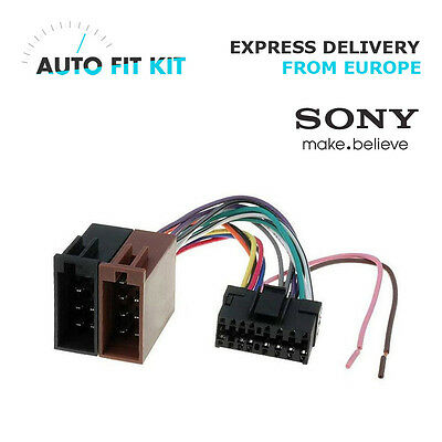 Sony ISO Wiring Harness Lead Kit - Sony Car Stereo Radio Connector