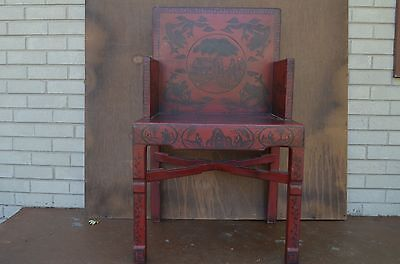 Antique Chinese 19th Century hand-painted Wood Chairs