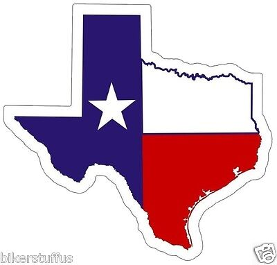 Texas Flag Map Helmet Sticker Toolbox Sticker Bumper Sticker Hard Hat Sticker