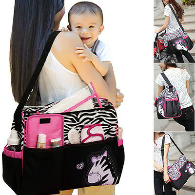 Multifunction Baby Diaper Nappy Mummy Feeding Tote Shoulder Bag Handbag 3Pcs/Set