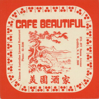 Coaster: Cafe Beautiful, Griffith.