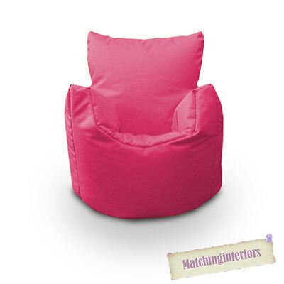 Pink Bean Chair Children's Kids Splashproof Indoor Outdoor Beanbag Garden Seat