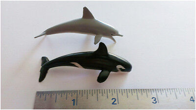 Dolphins and-or Whales Miniature Small Flexible Toys, Lot of 200 pieces Bulk toy
