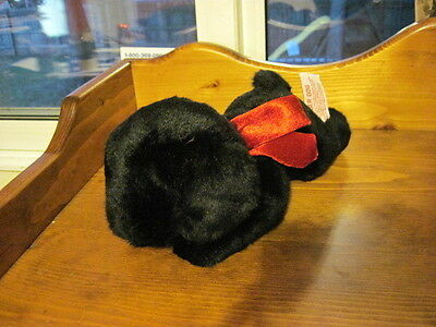 "RARE 11""  NMint Russ Berrie GINGER Dog Plush Black LAB Puppy #31880"