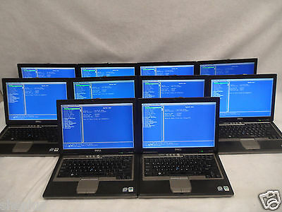 Lot of 10 Dell Latitude D630 Laptop, 2.50GHz Core2Duo 4GB RAM No Hard Drives