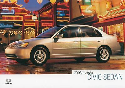 2003 Honda Civic Sedan ORIGINAL Factory Postcard my1069