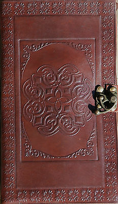Handmade Celtic Tooled Leather Blank Journal Diary Sketch Notebook Book (576)