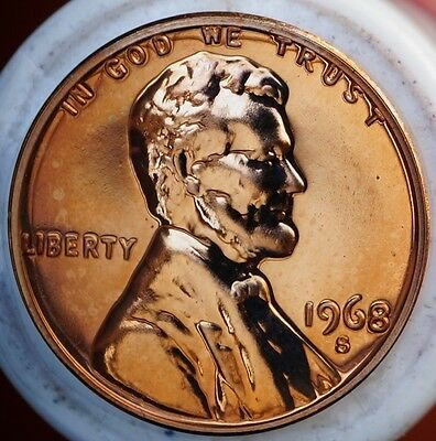 US 1968 S Lincoln Memorial Cent  Proof Coin Deep Cameo Coin